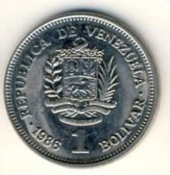 1986 Venezuela 1 Bolivar In BU Condition, Nice Coin - Venezuela