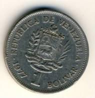 1977 Venezuela 1 Bolivar In EF Condition, Nice Coin - Venezuela