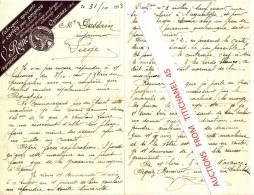 Lettre De 1913 - OYONNAX - V. REINE - Imprimeur- Fabrique Spéciale De Cartes Pour Peignes, Boutons, Bijouterie Etc.. - Imprimerie & Papeterie