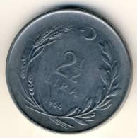 1964 Turkey 2 1/2 Lira In EF Condition, Nice Large Coin - Turkey