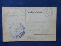 32/603  CP  CENSURE + TAXFREI  1918  COURRIER PRISIONNIER - Oorlog 1914-18