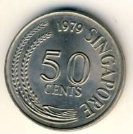 1979 Singapore 50 Cents Devil Fish Coin In UNC Condition - Singapore