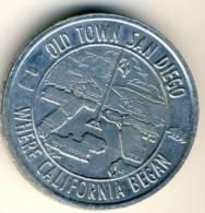 Old Town Dan Diego Good Luck Souvenir Coin In AU Condition - USA