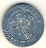 Florida´s Suncoast Good Luck Souvenir Coin In AU Condition - USA