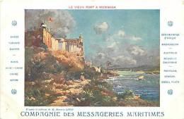 Afrique- Africa -ref A642-le Vieux Fort A Mombasa -compagnie Des  Messageries Maritimes - Carte Bon Etat - - Kenya