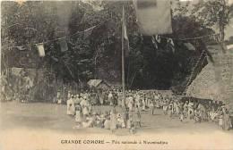 Afrique- Africa -ref A640-grande Comore -fete Nationale A Nioumbadjou   - Carte Bon Etat - - Comores