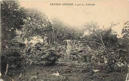 Afrique- Africa -ref A639-grande Comore -a 400 Metres D Altitude - Carte Bon Etat - - Comoros