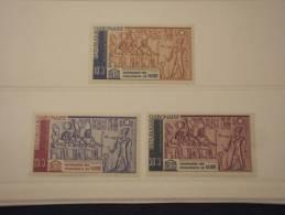 GABONAISE - 1964 NUBIA 3 Valori - NUOVI(++)-TEMATICHE - Gabon (1960-...)