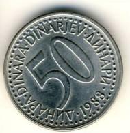 1988 Yugoslavia 50 Dinar Coin In UNC Condition - Yugoslavia