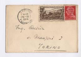 Italia Storia Postale 1933 (busta 7x11) - Poststempel