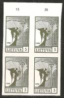 Lituania 1990 Nuovo** - Mi. 457b Quartina - Lituania