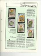 DOCUMENTO CON SELLOS TEMA CACTUS KAMPUCHEA FLORA - Cactus