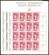 Lituania 1990 Nuovo** - Mi. 461/64 Minifoglio - Lituania