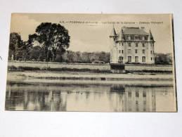 Carte Postale Ancienne : PODENSAC : Les Bords De La Garonne , Chateau Thevenot - Francia