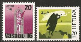 Lituania 1991 Nuovo** - Mi. 470/71 4x - Lituania