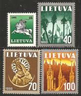Lituania 1991 Nuovo** - Mi. 473/76 - Lituania