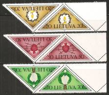 Lituania 1991 Nuovo** - Mi. 477/79  2x - Lituania