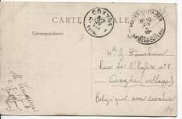 CP En SM C.PMB-BLP 23.8.1916 écrite De Gaillon Eure V.Coxyde C.d'arrivée 26.8.1916 PR130 - Zona Non Occupata