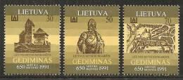 Lituania 1991 Nuovo** - Mi. 486/90 - Lituania