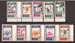 MA384-L30381TCSC.Maros.Ma Ro Cco. MARRUECOS   ESPAÑOL.1953.25º ANIV.1º SELLO MARROQUI. (Ed 384/3** )sin Fifasellos.LUJO - Culturas