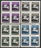 Lituania 1991 Nuovo** - Mi. 491/94 Blocs 4x - Lituania