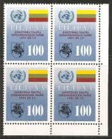 Lituania 1992 Nuovo** - Mi. 495 Quartina - Lituania