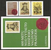 Lituania 1993 Nuovo** - Mi. 518/20+Bloc 3 - Lituania