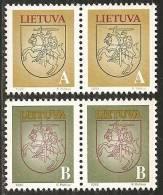 Lituania 1993 Nuovo** - Mi. 531/32 X2; 537/39 - Lituania