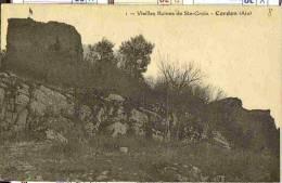 1922 CORDON - Vue Peu Courante Sur Vieilles Ruines De Sainte Croix - France