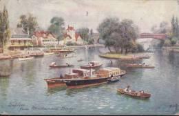 1919 - TAPLOW FROM MAIDENHEAD BRIDGE SERIES II - THE PICTURESUE THAMES - TUCK & SONS - Buckinghamshire