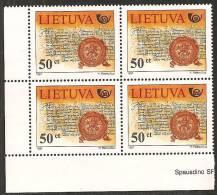 Lituania 1997 Nuovo** - Mi. 651 4x; 652/54 - Lituania