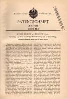 Original Patentschrift - H. Liebert In Milnrow , 1902 , Maschine Für Schneidwerkzeuge , Messer , Machine !!! - Tools