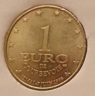1 Euro Temporaire Precurseur De COURBEVOIE  1998, RRRR, Gute Erhaltung, BR, Nr. 238 - Euro Der Städte