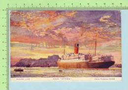 Used In 1924 ( Cunar Line R.M.S. Antonia  EMA Cancel) Post Card Carte Postale Cover Mecanic Canselation - Piroscafi