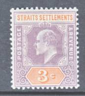 Straits Settements  94  *   Wmk. 2  CA - Straits Settlements