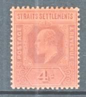 Straits Settements  95 *   Wmk. 2  CA - Straits Settlements