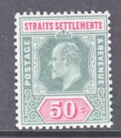 Straits Settements  101  *   Wmk. 2  CA - Straits Settlements