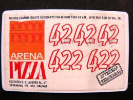 Chip Parking Card From Lithuania, 30lt. Kaunas, 2 Scans Pizza Advertisement - Unclassified
