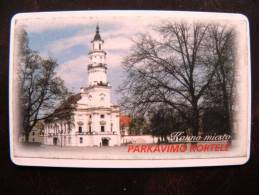 Chip Parking Card From Lithuania,  Kaunas, Town Hall Church, 2 Scans - Unclassified