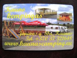 Chip Parking Card From Lithuania,  Kaunas, 60lt., Camping, 2 Scans - Other Collections