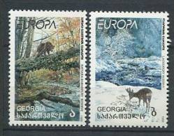 101 GEORGIE 1999 - Europa Parcs Cerf Ours - Neuf Sans Charniere (Yvert 223/24) - Georgien