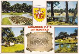 Cp , 32 , LAGRAULET-du-GERS , A L'ombre Des Pins , Vacances P.T.T. Armagnac - Non Classés