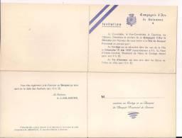 Soissons Aisne Compagnie D´arc Invitation Au Bouquet Provincial 1957 Arc Archer Archerie - Faire-part