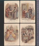Bon-Point - Enseignement - Chromo - Farine Salvy - LOT De 4 - Barbiers, Modistes, Merciers - Trade Cards