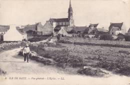 CPA - 29 - ILE DE BATZ - Vue Générale - L'église - 4 - Ile-de-Batz