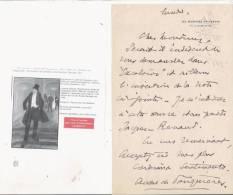 ANDRE DE FOUQUIERES (1874 PARIS 1959) CONFERENCIER HOMME DE LETTRES ET HOMME DU MONDE FRANCAIS LETTRE A SIGNATURE - Autographes