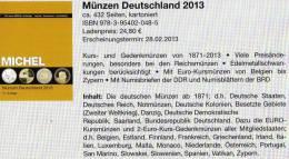 MICHEL Deutschland Münzen 2013 Neu 25€ D:DR Ab 1871 III.Reich BRD Berlin DDR Numismatik Coin Catalogue 978-3-95402-048-5 - Altri