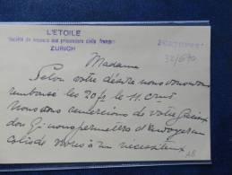 32/670   CP  L'ETOILE - Marcofilie (Brieven)