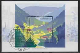 Bund  Block 68  - Nationalpark Schwarzwald  - ESST Bonn - Gestempelt - Blocks & Kleinbögen