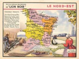 CHROMO LE LION NOIR  REGION FRANCAISE    LE NORD EST - Chromos